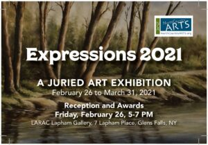 Expressions 2021 - Juried Art Exhibit @ LARAC's Lapham Gallery | Glens Falls | New York | United States