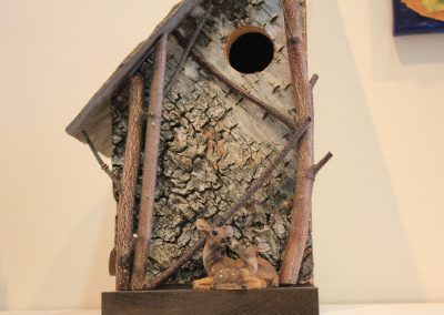 Birdhouse Creation by NorthCountryARTS artist Don Polunci