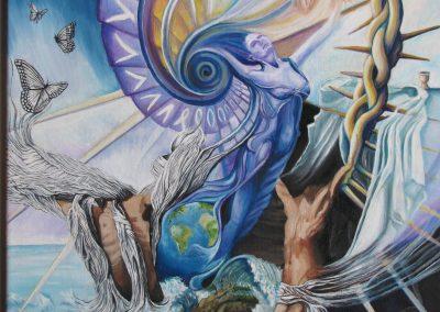 Painting by NorthCountryARTS artist Sandra Jabaut
