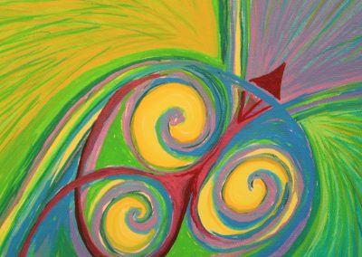 Painting by NorthCountryARTS artist Diana Signe Kline