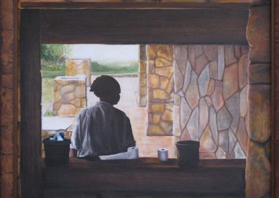 Painting by artist Sandra Jabaut
